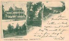 Rock Island,Illinois,4 Views of Black Hawk Watch Tower,Used,1903