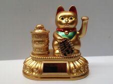 Feng Shui- Lucky Golden cat- Maneki Neko (Solar)