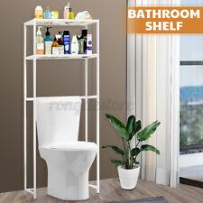 2 Shelf Over The Toilet Bathroom Space Saver Metal Towel Storage Rack Organizers
