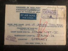 1944 Washington D Usa To Germany POW Camp Cover Luft Stalag 3 Prisoner J Perlman