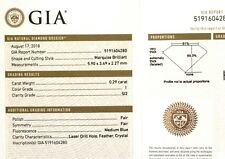GIA certified loose .29ct SI2 I Marquise Natural fancy cutdiamond estate