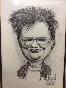 R Haugland Character Street Pencil Pen Drawing Art 1989 Pier 70 Seattle