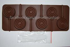 Spiral Circle Chocolate Lollipop Jelly Clay Fondant Silicone Mold Molder