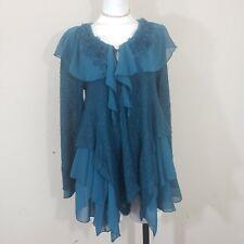 Pretty Angel herpbun Cardigan Sweater In Turquoise vintage S size