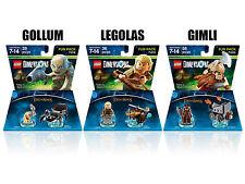 Lego Dimensions LOTR GOLLUM, LEGOLAS & GIMLI 3x Fun Packs Lord of the Rings NIB