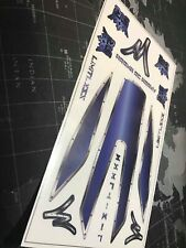 Arrma 1/7 Limitless Custom Window decal kit with extras (Dark Blue Ink)