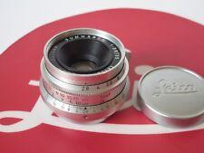 Leica Leitz 35mm f/2.8 Summaron Chrome Lens LTM L39 Screw Wetzlar E39 6-Element