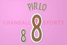 Pirlo #8 2002-2003 Italy Homekit Nameset Printing