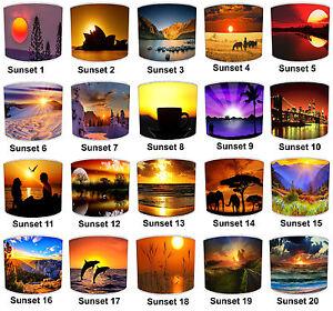Pantallas de Lámpara para Combinar Spectacular Amanecer Y Sunset Cojines Decals