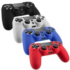4 Pack Soft Silicone PlayStation4 Controller Skin Cover Black/Red/Blue/White NEW