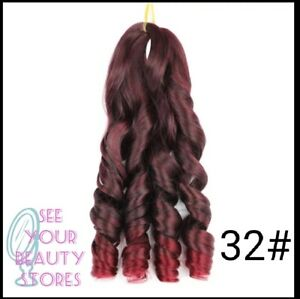 20 Inch french Curls Loose Wave Crochet Hair Extension Braids Synthetic accesso