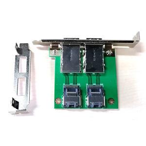 2Ports Mini SAS SFF-8088 To 36Pin SFF-8087 PCBA Female Adapter PCI Bracket Great
