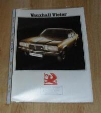 VAUXHALL VICTOR BROCHURE 1974 1800 & 2300 Berlina