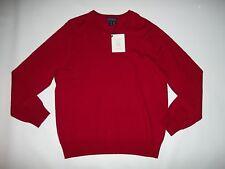 Allen Solly Londres 100% Lana Merino V - Cuello Rojo Jersey Mens Size Grande