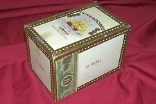 Old Cigar Box Fundadores Jamaican Imported Tobacco Vintage Wood Wooden Holder