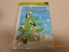 Lot 6 Hallmark cute Christmas greeting cards w/ envelopes penguins great value