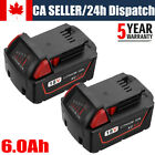 2Pack For Milwaukee M18 Lithium XC 6.0Ah Extended Capacity Battery 48-11-1860