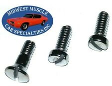 64-72 GM Sunvisor Sunshade Sun Visor Shade Inside Rear View Mirror Screws 3pc GB