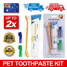 1/2X Pet Dog Cat Cleaning Toothpaste+ Toothbrush+ Back Up Brush Set Beef Flavour