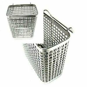 Small Square Stainless Steel Perforated Cutlery Basket Sink Rack Storage...