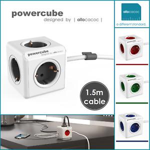 allocacoc PowerCube Extended 5x Schuko Mehrfachsteckdose 1,5m Verlängerungskabel