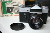 Zenit E Russian Soviet SLR Film Camera Helios 44-2 58mm F2 Lens For M42 in box