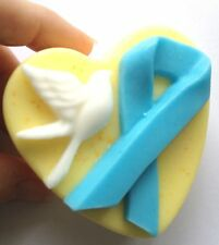 PINK,BLUE RIBBON PEACE DOVE SILICONE MOULD: Soap, candles, Autism, Breast Cancer