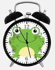 "Cute Green Frog Alarm Desk Clock 3.75"" Home or Office Decor E365 Nice Gift"