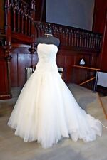 EX SAMPLE TULLE BEADED WEDDING GOWN BY ROMANTICA IVORY 14 AIMEE 70% OFF RRP