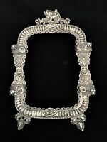 ANTIQUE EUROPEAN SILVER  FRAME,MADE IN 18 OR EARLY 19 CENTURY HAND CHASED AS-IS