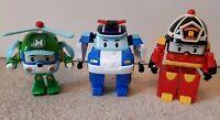Robocar Poli Bundle, Poli, Roy & Helly, Transforming, Car, Helicopter, Fireman