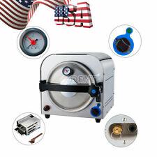 Usa 14l Portable Dental Medical Autoclave Steam Sterilizer Tr250e Lab Equipment