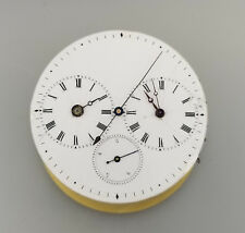 ANTIQUE CAPTAIN'S 3 DIAL POCKET WATCH MOVEMENT – INDY DEAD BEAT SWEEP SECONDS