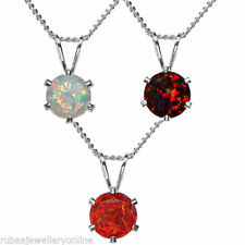 Fire Opals 18k Fine Necklaces & Pendants