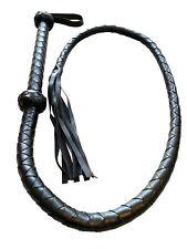 lange Leder Bullen Peitsche schwarz 145cm schwarz