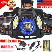 15000LM CREE 3x XML T6 LED Headlamp Headlight Flashlight Head Light 18650 Charge