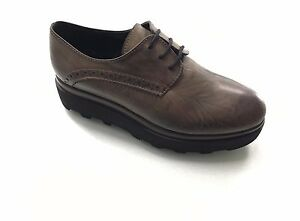 Damenschuhe Oxford Taupe Made IN Italy