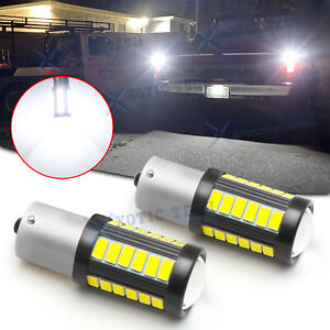 1156 6000K White Backup Reverse Light Bulbs For Chevy C10 C30 K10 K20 1975-1986