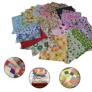 10cmx10cm Quilting Square Mix Cotton Fabric Patchwork Cloth for DIY Craft Sewing