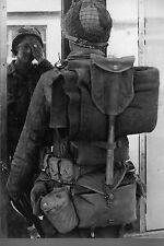 WW2 - Soldat américain avec son équipement en Normandie en juin 1944