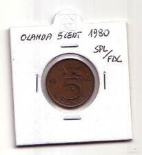 Olanda  Nederland   5 cent  1980        SPL/FDC       (m1012)