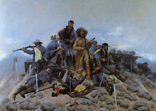 The Last Stand - Custer  by Frederic Remington   Paper Print Repro