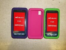 Samsung R810 Finesse Cases, Lot of 3 Rubber Pink Purple Green *FREE SHIPPING*