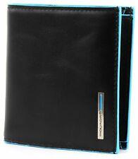 PIQUADRO Borsa Blue Square Pocket Wallet Vertical Nero