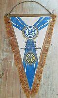 Großer 40 cm Orig. Wimpel FC Schalke 04 Inter Mailand 80.Jahre bandierina S04