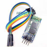 2pcs Slave Wireless Bluetooth Transeiver RF Module Serial+4p Port line HC-06