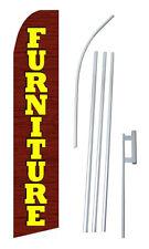 Furniture Banner Flag Sign Display Flutter Kit Feather Tall Swooper 2.5