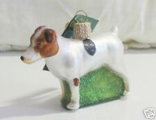 """Old World Christmas """"Jack Russell Terrier"""" Glass Ornt"""