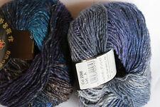 "Noro ""SILK GARDEN LITE"" Yarn #2088 Navy, Turquoise, Purple, Brown"
