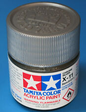 Tamiya GLOSS CHROME SILVER Acrylic Hobby Model Paint Acrylic X11 23ml 81011 X-11